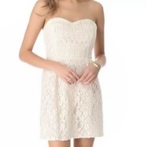 Free People Strapless Lace Dress 8
